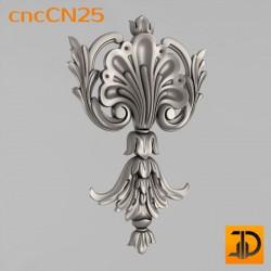 Центральный декор cncCN25- 3D модель ЧПУ