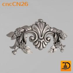 Центральный декор cncCN26- 3D модель ЧПУ
