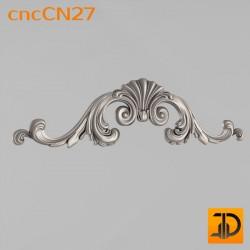 Центральный декор cncCN27- 3D модель ЧПУ