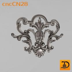Центральный декор cncCN28 - 3D модель ЧПУ