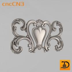 Центральный декор cncCN3 - 3D модель ЧПУ