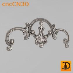 Центральный декор cncCN30 - 3D модель ЧПУ