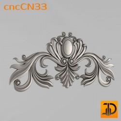 Центральный декор cncCN33 - 3D модель ЧПУ
