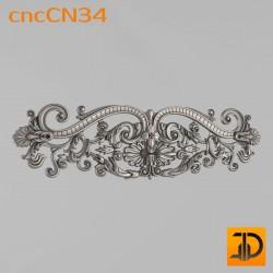 Центральный декор cncCN34 - 3D модель ЧПУ