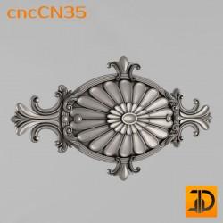 Центральный декор cncCN35 - 3D модель ЧПУ