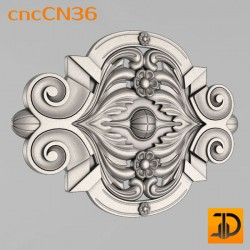 Центральный декор cncCN36 - 3D модель ЧПУ
