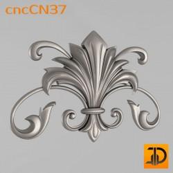 Центральный декор cncCN37 - 3D модель ЧПУ