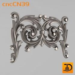 Центральный декор cncCN39 - 3D модель ЧПУ