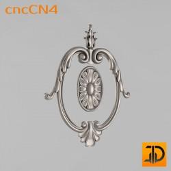 Центральный декор cncCN4 - 3D модель ЧПУ