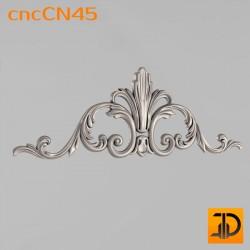 Центральный декор cncCN45 - 3D модель ЧПУ