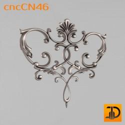 Центральный декор cncCN46 - 3D модель ЧПУ