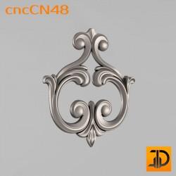 Центральный декор cncCN48 - 3D модель ЧПУ