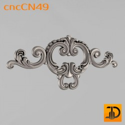 Центральный декор cncCN49 - 3D модель ЧПУ