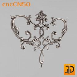 Центральный декор cncCN50 - 3D модель ЧПУ