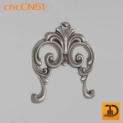 Центральный декор cncCN51 - 3D модель ЧПУ