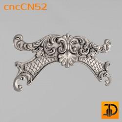 Центральный декор cncCN52 - 3D модель ЧПУ