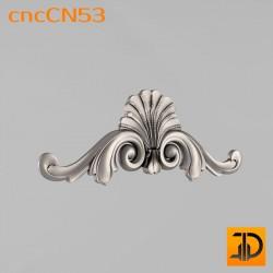 Центральный декор cncCN53 - 3D модель ЧПУ