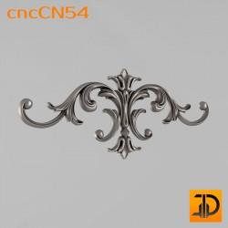 Центральный декор cncCN54 - 3D модель ЧПУ