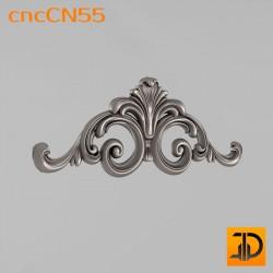 Центральный декор cncCN55 - 3D модель ЧПУ
