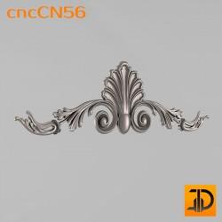 Центральный декор cncCN56 - 3D модель ЧПУ