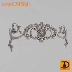 Центральный декор cncCN59 - 3D модель ЧПУ