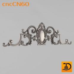 Центральный декор cncCN60 - 3D модель ЧПУ