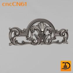 Центральный декор cncCN61 - 3D модель ЧПУ