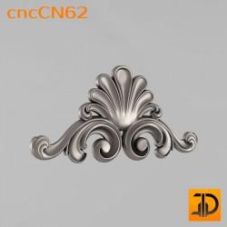 Центральный декор cncCN62 - 3D модель ЧПУ