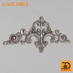 Центральный декор cncCN63 - 3D модель ЧПУ