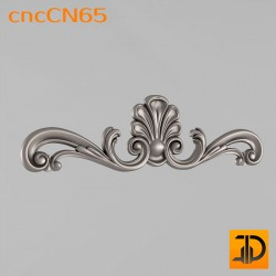 Центральный декор cncCN65 - 3D модель ЧПУ