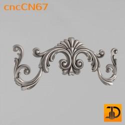 Центральный декор cncCN67 - 3D модель ЧПУ