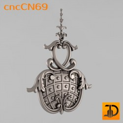Центральный декор cncCN69 - 3D модель ЧПУ