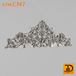 Центральный декор cncCN7 - 3D модель ЧПУ