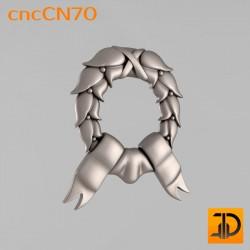 Центральный декор cncCN70 - 3D модель ЧПУ