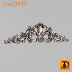 Центральный декор cncCN71 - 3D модель ЧПУ