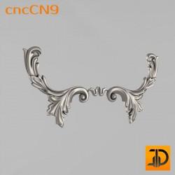 Центральный декор cncCN9 - 3D модель ЧПУ