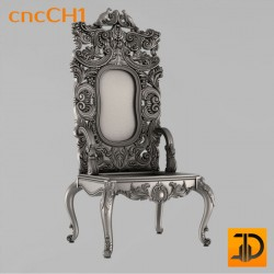 Резной стул в итальянском стиле cncCH1 - 3D ЧПУ