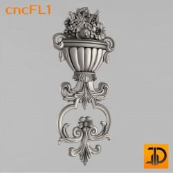 Цветочный узор cncFL1 - 3D ЧПУ