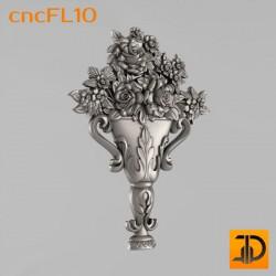 Цветочный узор cncFL10 - 3D ЧПУ