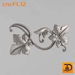 Цветочный узор cncFL12 - 3D ЧПУ