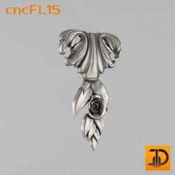 Цветочный узор cncFL15 - 3D ЧПУ