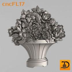 Цветочный узор cncFL17 - 3D ЧПУ