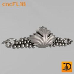 Цветочный узор cncFL18 - 3D ЧПУ