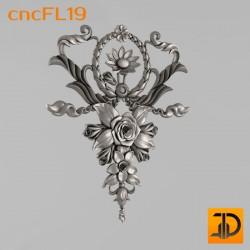 Цветочный узор cncFL19 - 3D ЧПУ