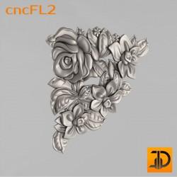 Цветочный узор cncFL2 - 3D ЧПУ