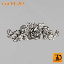 Цветочный узор cncFL20 - 3D ЧПУ