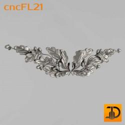 Цветочный узор cncFL21 - 3D ЧПУ
