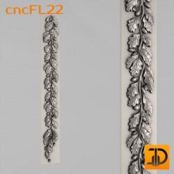 Цветочный узор cncFL22 - 3D ЧПУ