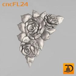 Цветочный узор cncFL24 - 3D ЧПУ