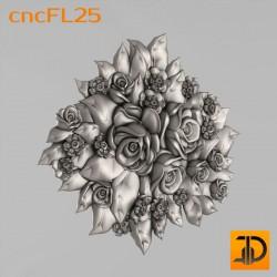 Цветочный узор cncFL25 - 3D ЧПУ